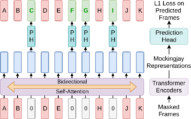 Figure 1 for Mockingjay: Unsupervised Speech Representation Learning with Deep Bidirectional Transformer Encoders