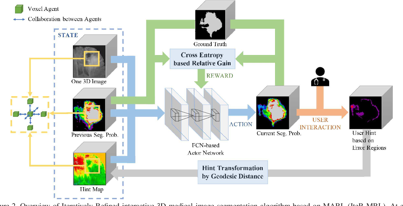 Figure 3 for Iteratively-Refined Interactive 3D Medical Image Segmentation with Multi-Agent Reinforcement Learning