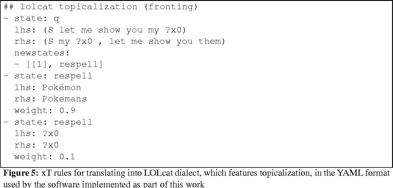 Figure 4 for Tree Transducers, Machine Translation, and Cross-Language Divergences