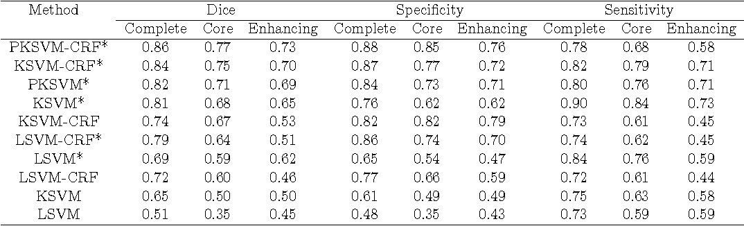 Figure 4 for Within-Brain Classification for Brain Tumor Segmentation