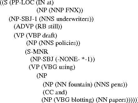 Figure 1: An example from the English Penn Treebank
