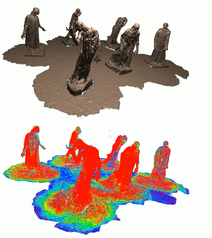 Figure 1 for An Efficient Volumetric Mesh Representation for Real-time Scene Reconstruction using Spatial Hashing