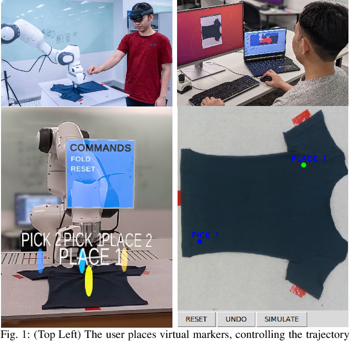 Figure 1 for Demonstrating Cloth Folding to Robots: Design and Evaluation of a 2D and a 3D User Interface