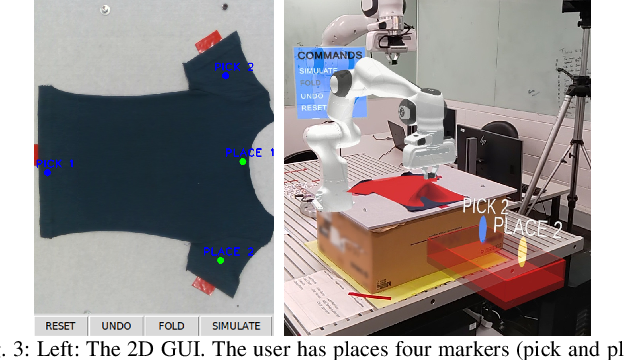 Figure 3 for Demonstrating Cloth Folding to Robots: Design and Evaluation of a 2D and a 3D User Interface