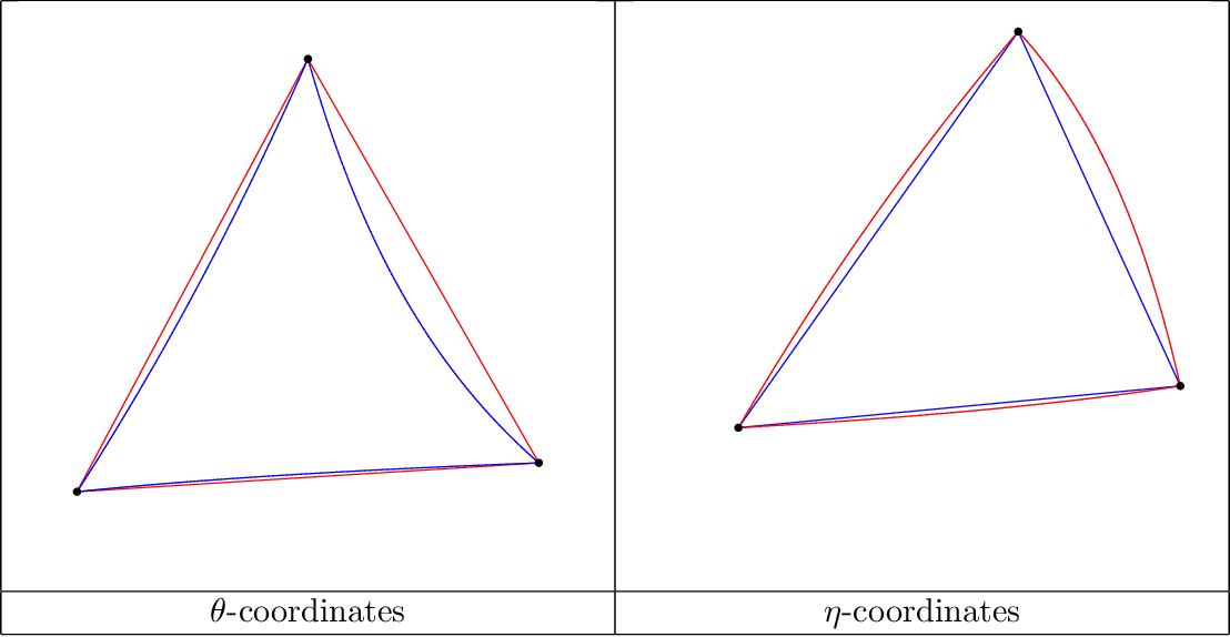 Figure 4 for On geodesic triangles with right angles in a dually flat space
