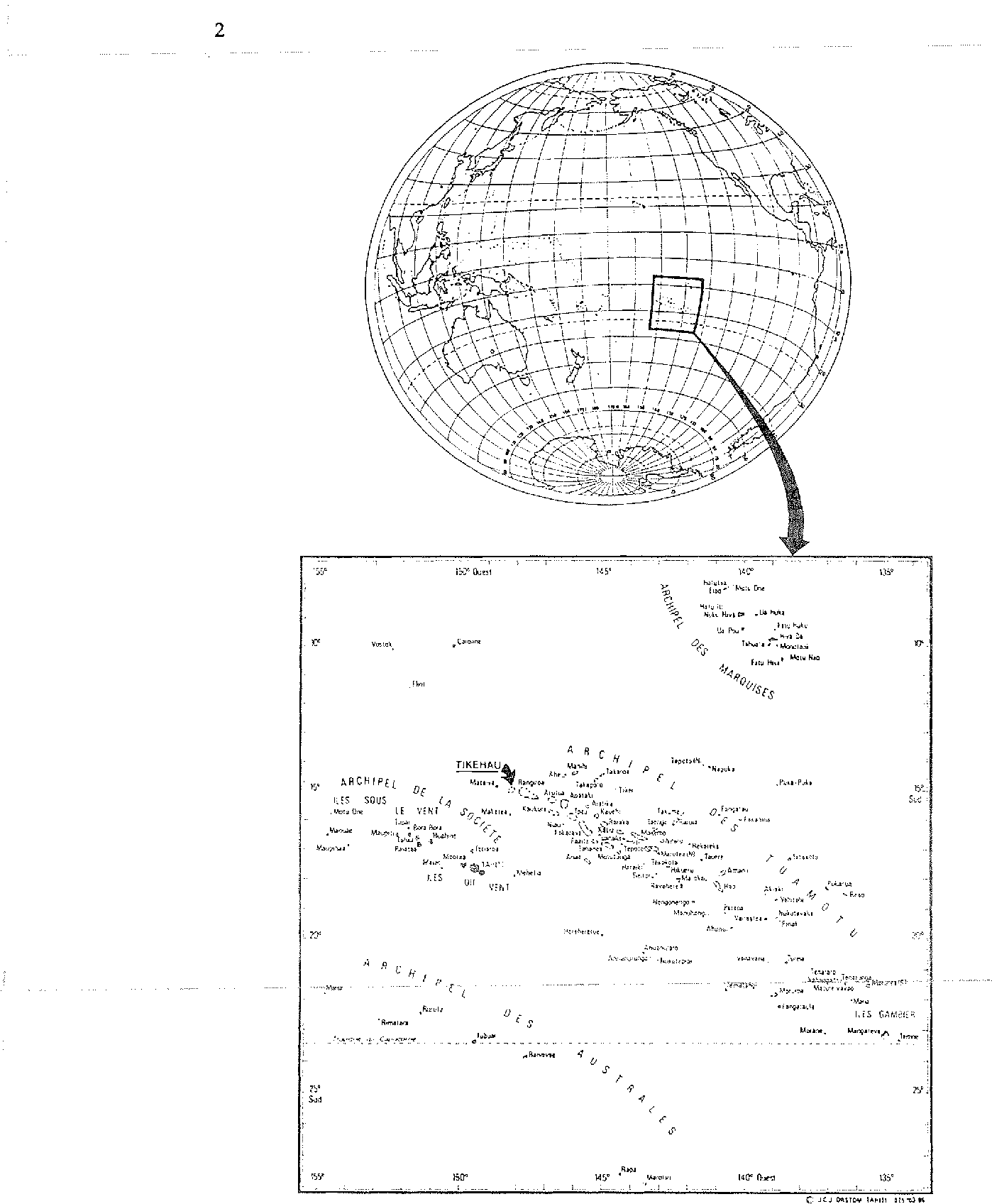 figure 1 from part i environment and biota of the tikehau atoll Ancient Polynesia Map 1 map of french polynesia and location of the tikehau atoll tuarnotu