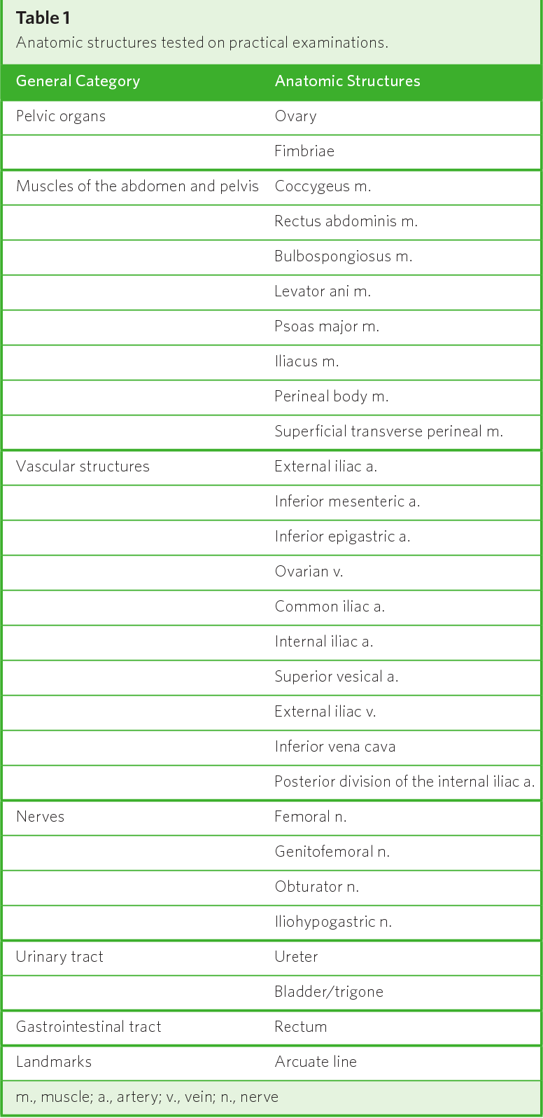 Body of Knowledge : Using Prosections to Teach Pelvic Anatomy in OB ...