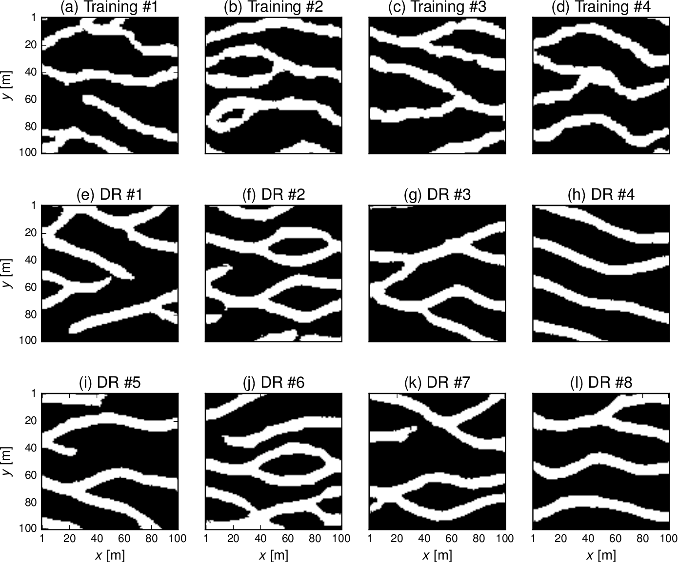 Figure 4 for Inversion using a new low-dimensional representation of complex binary geological media based on a deep neural network
