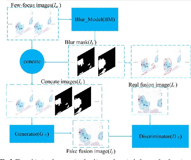 Figure 3 for FFusionCGAN: An end-to-end fusion method for few-focus images using conditional GAN in cytopathological digital slides