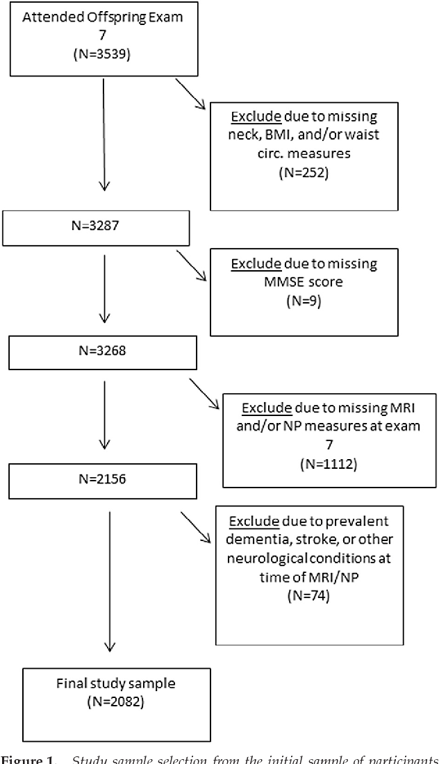 Neck Circumference, Brain Imaging Measures, and Neuropsychological