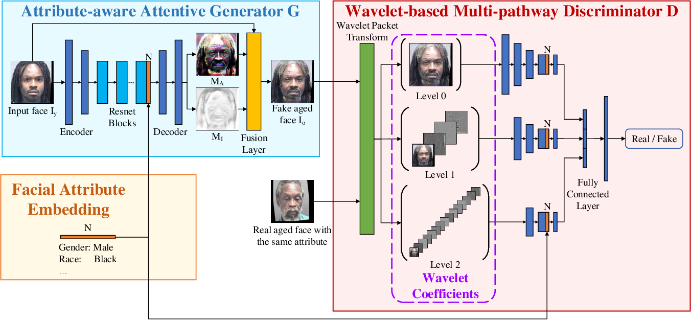 Figure 3 for A3GAN: An Attribute-aware Attentive Generative Adversarial Network for Face Aging