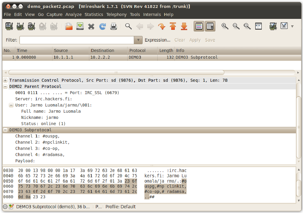 PDF] A tool for generating protocol dissectors for Wireshark in Lua