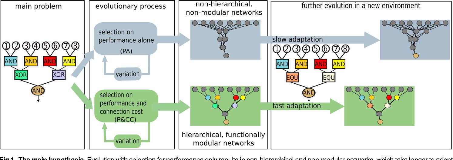 Figure 1 for The evolutionary origins of hierarchy