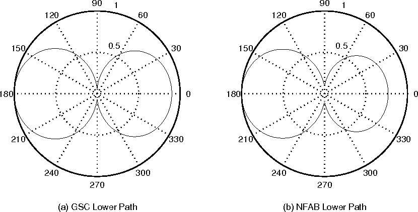 FIG. 7. Lower Path Directivity Pattern at 300 Hz