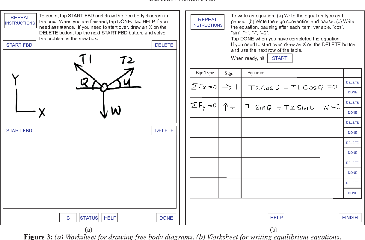 Figure 3 From Newtons Pen A Pen Based Tutoring System For Statics