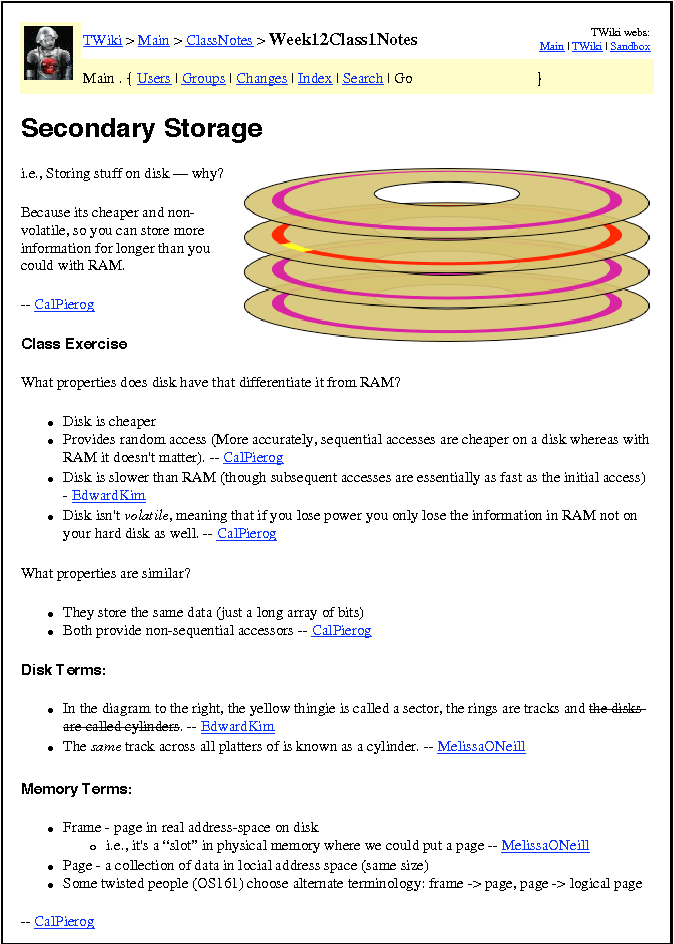 Figure 6 from Automated use of a Wiki for collaborative lecture