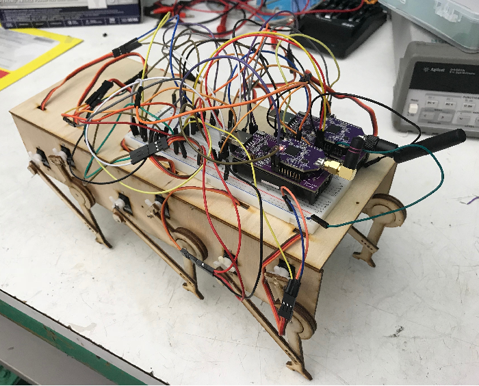 Figure 1 for Decentralized Control of a Hexapod Robot Using a Wireless Time Synchronized Network