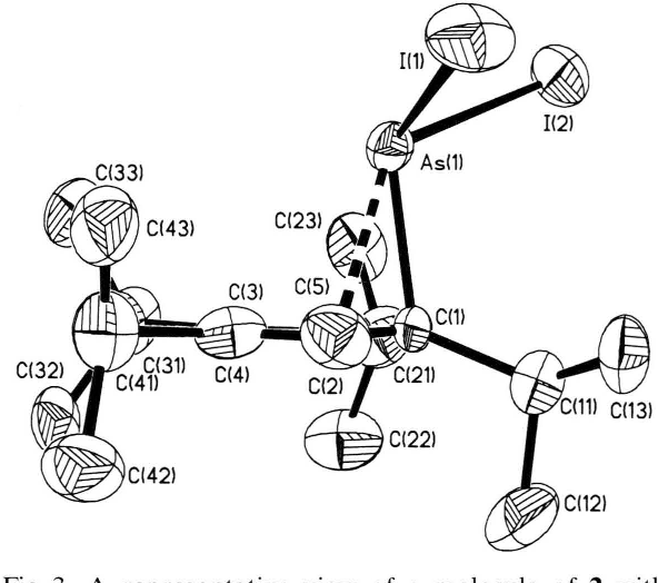 figure 3 from syntheses and structures of cyclopentadienyl arsenic Atomic Basketball a representative view of a molecule of 2 with atomic numbering scheme