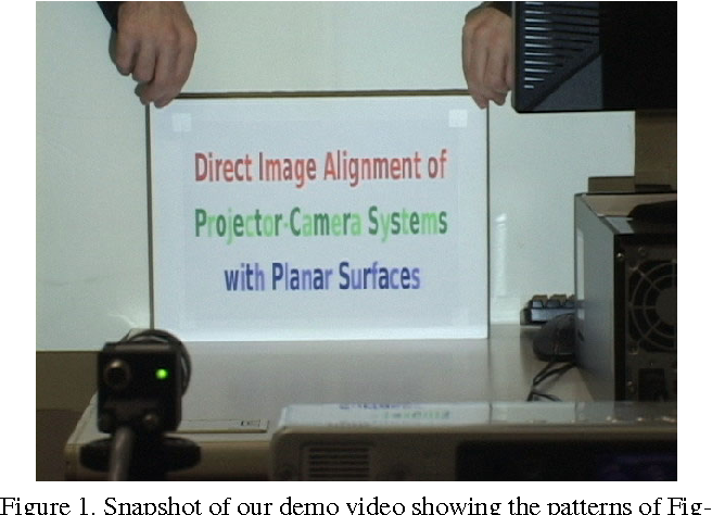 Direct image alignment of projector-camera systems with planar