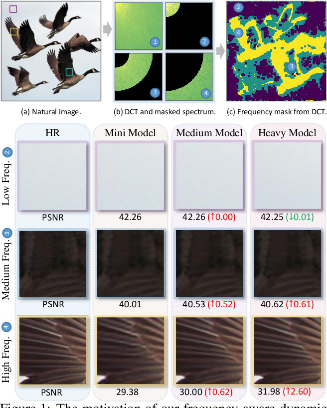 Figure 1 for Learning Frequency-aware Dynamic Network for Efficient Super-Resolution