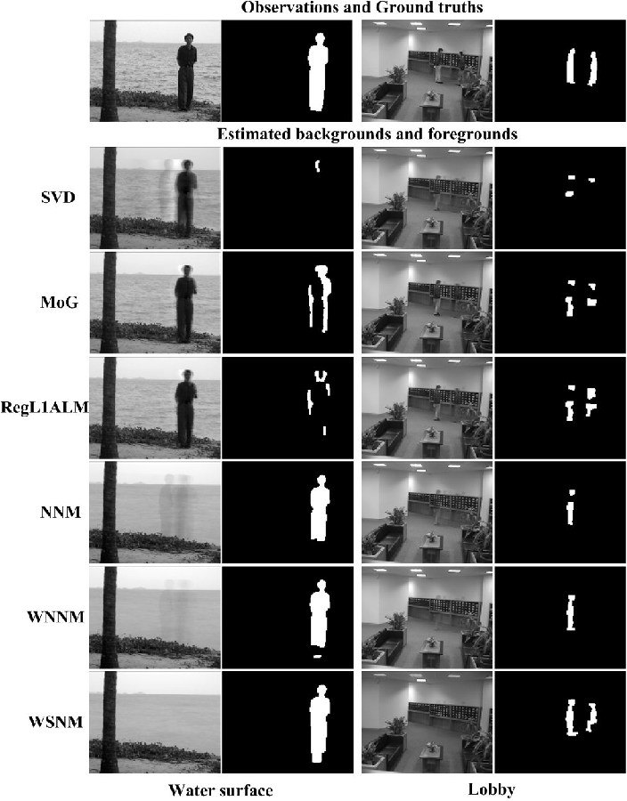Figure 2 for Weighted Schatten $p$-Norm Minimization for Image Denoising and Background Subtraction