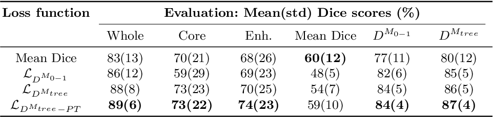 Figure 2 for Generalised Wasserstein Dice Score for Imbalanced Multi-class Segmentation using Holistic Convolutional Networks