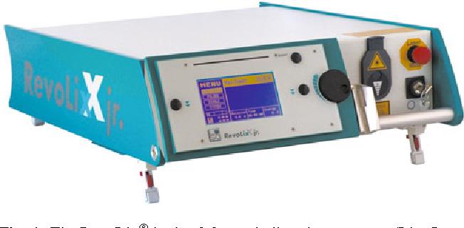 Fig. 1 The RevoLix junior 2.0-lm thulium laser system (Lisa Laser Products, Katlenburg-Lindau, Germany)