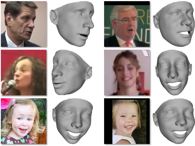 Figure 1 for ExpNet: Landmark-Free, Deep, 3D Facial Expressions
