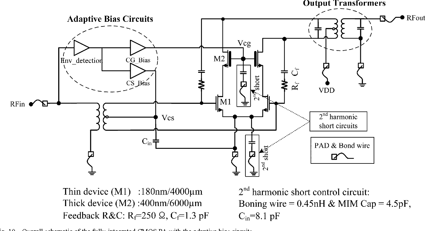 Linearization Of Cmos Cascode Power Amplifiers Through Adaptive Bias T Circuit Diagram Control Semantic Scholar