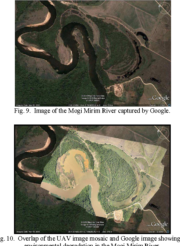 Fig. 9. Image of the Mogi Mirim River captured by Google.