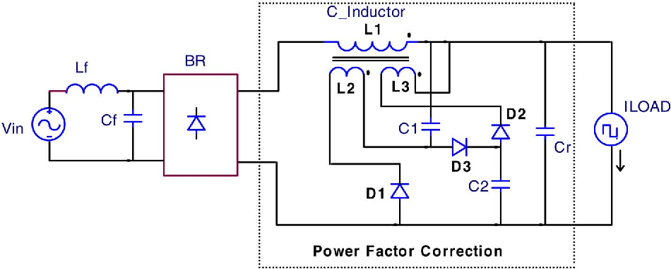 Quasi-Active Power Factor Correction Circuit for HB LED Driver