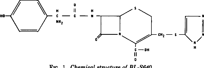 FIG. 1. Chemical structure of BL-S640.
