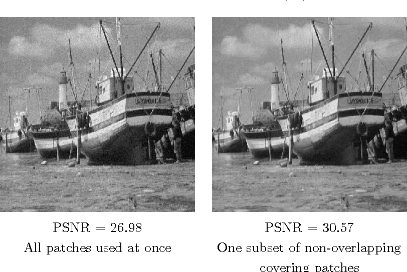 Figure 1 for A fast patch-dictionary method for whole image recovery