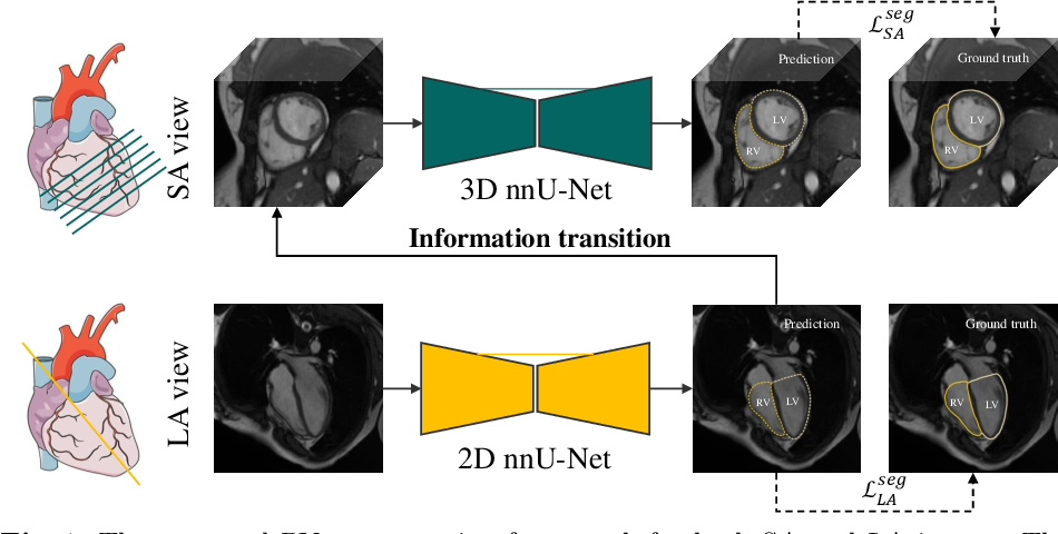 Figure 1 for Right Ventricular Segmentation from Short- and Long-Axis MRIs via Information Transition