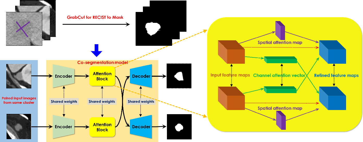 Figure 1 for Weakly Supervised Lesion Co-segmentation on CT Scans