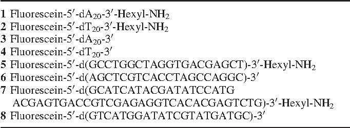 Table 1. List of oligodeoxynucleotides