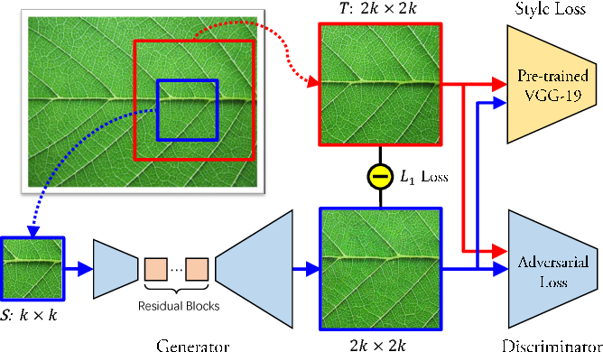 Figure 4 for Non-Stationary Texture Synthesis by Adversarial Expansion