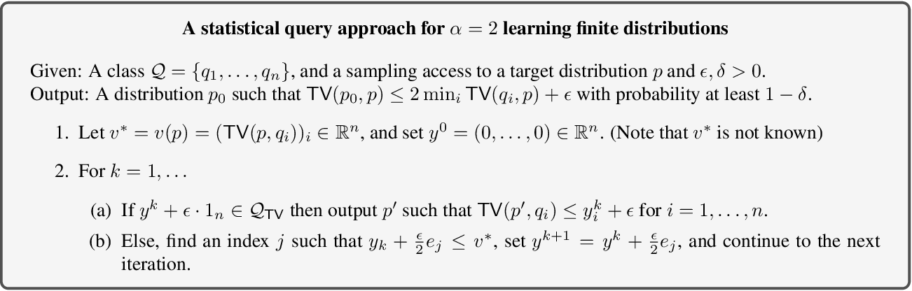 Figure 1 for The Optimal Approximation Factor in Density Estimation