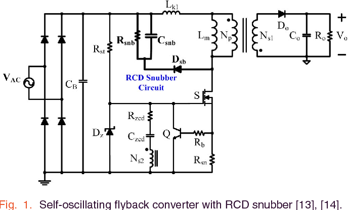 self oscillating flyback converter circuit diagram