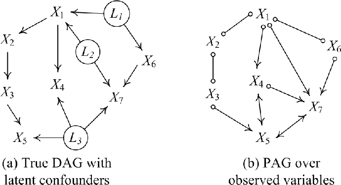 Figure 2 for FRITL: A Hybrid Method for Causal Discovery in the Presence of Latent Confounders