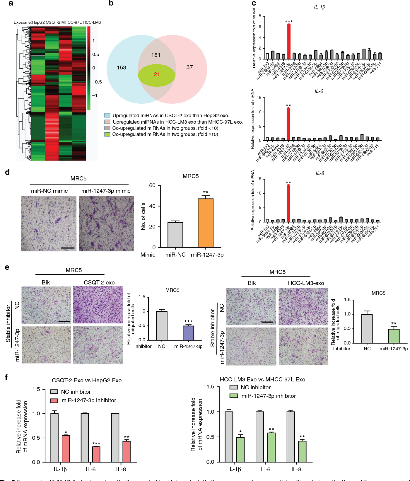 Figure 2 from Tumor-derived exosomal miR-1247-3p induces cancer