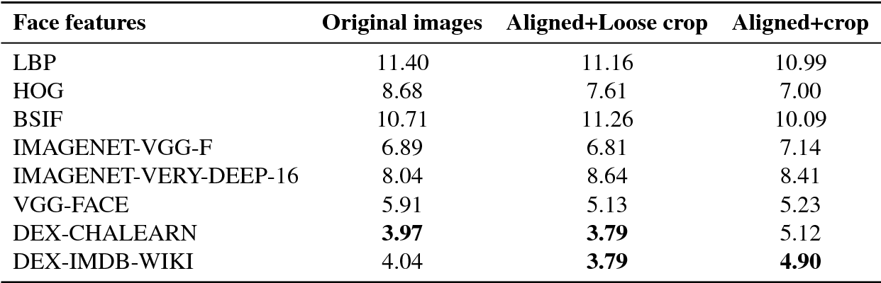 Comparative Study of Human Age Estimation Based on Hand-Crafted and