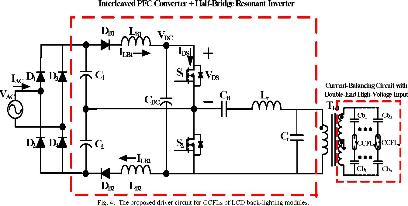 A Novel Driver Circuit For Multiple Cold Cathode Fluorescent Lamps Lamp Diagram Figure 4