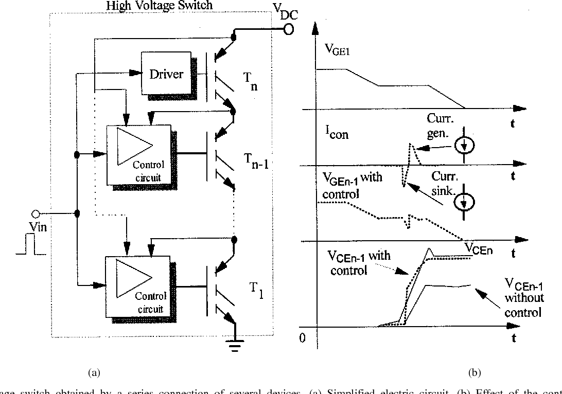 Control Of The Switching Transients Igbt Series Strings By High Voltage Switch Circuit Figure 1