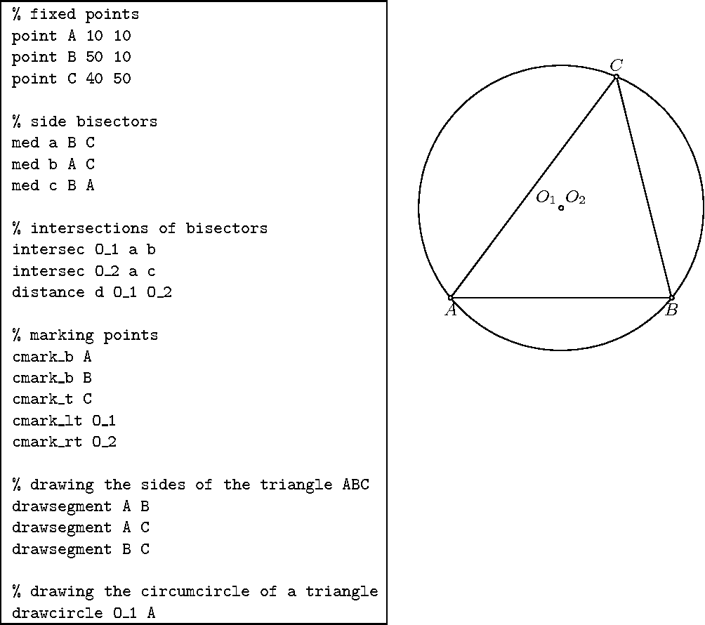 Figure 1 from GCLC - A Tool for Constructive Euclidean Geometry and