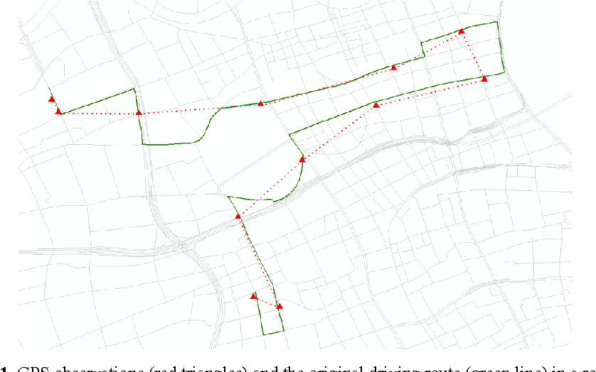 Figure 1 for Feature Engineering for Map Matching of Low-Sampling-Rate GPS Trajectories in Road Network