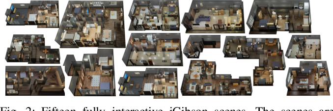 Figure 2 for iGibson, a Simulation Environment for Interactive Tasks in Large Realistic Scenes