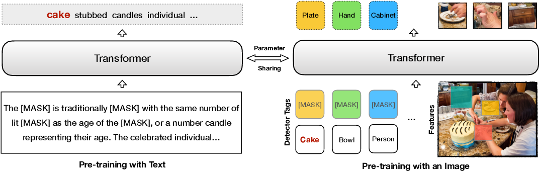 Figure 1 for Weakly-supervised VisualBERT: Pre-training without Parallel Images and Captions