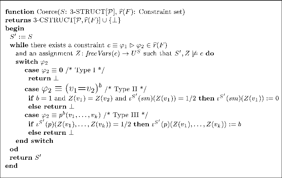 Fig. 17. An iterative algorithm for solving 3-valued constraints.