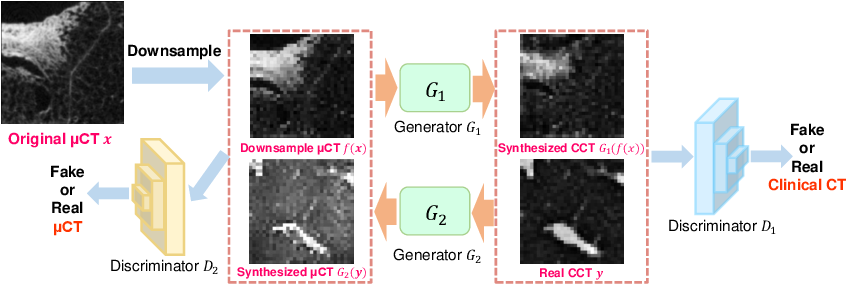 Figure 1 for Micro CT Image-Assisted Cross Modality Super-Resolution of Clinical CT Images Utilizing Synthesized Training Dataset